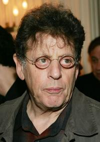 Philip Glass at the Society of Composers and Lyricists annual champagne reception.
