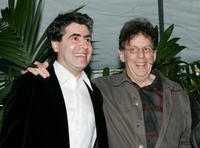 Javier Navarrete and Philip Glass at the Society of Composers & Lyricists Annual Champagne Reception.