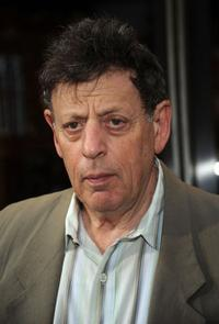 Philip Glass at the Broadway opening night of