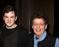 Nico Muhly and Philip Glass at the screening of