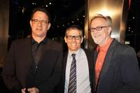 Producer Tom Hanks, Michael Lombardo and Gary Goetzman at the premiere of
