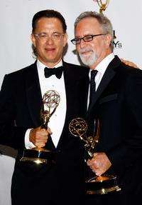 Tom Hanks and Gary Goetzman at the 60th Primetime Emmy Awards.