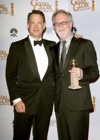 Tom Hanks and Gary Goetzman at the 66th Annual Golden Globe Awards.