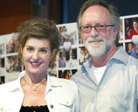 Nia Vardalos and Gary Goetzman at the press conference of