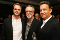 Director Tom Vaughan, Gary Goetzman and Tom Hanks at the after party of the premiere of
