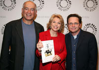 Gary David Goldberg, Pat Mitchell and Michael J. Fox at the panel discussion celebrating Gary David Goldberg's autobiography