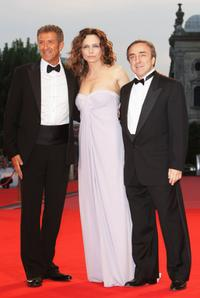Ezio Greggio, Francesca Neri and Silvio Orlando at the premiere of