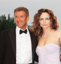 Ezio Greggio and Francesca Neri at the premiere of