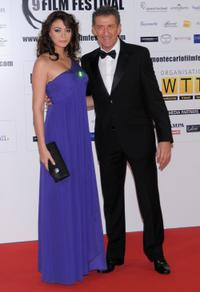 Rachel Legrain Trapani and Ezio Greggio at the 2009 Monte-Carlo Film Comedy Festival Cocktail Party.
