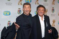 Ezio Greggio and Enzo Iacchetti at the Italian TV Awards