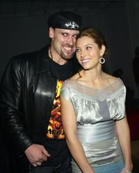 Andrew Bryniarski and Jessica Biel at the after party of the premiere of