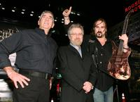 R. Lee Ermey, Producer Tobe Hooper and Andrew Bryniarski at the premiere of