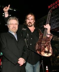 Producer Tobe Hooper and Andrew Bryniarski at the premiere of
