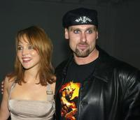 Erica Leerhsen and Andrew Bryniarski at the after party of the premiere of