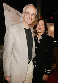 Michael Gross and Elza at the premiere of