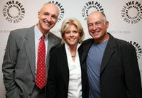 Michael Gross, Meredith Baxter and Gary David Goldberg at the panel discussion celebrating Gary David Goldberg's autobiography