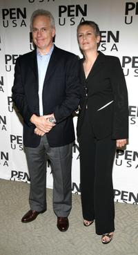 Christopher Guest and his wife Jamie Lee Curtis at the fundraiser to benefit PEN USAs Freedom to Write Program at the Luxe Hotel.