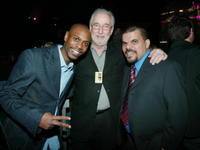 David Chappelle, Larry Divney and Luis Guzman at the after party of Comedy Central's First Ever Awards Show