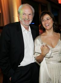 Michael Gwisdek and Sandra Maischberger at the aftershow party during the German Film Awards (Deutscher Filmpreis).