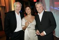 Michael Gwisdek, Sandra Maischberger and Henry Huebchen at the aftershow party during the German Film Awards (Deutscher Filmpreis).