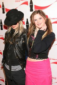 JT Leroy and Jennifer Hall at the Coca Cola Make It Real party.