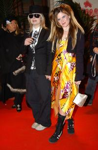 J.T. LeRoy and Jennifer Hall at the premiere of