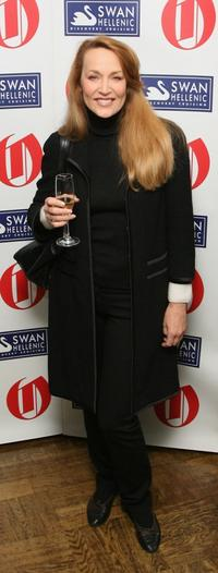 Jerry Hall at the Oldie Of The Year Award.