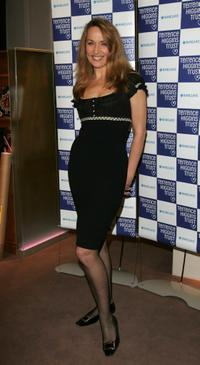 Jerry Hall at the Lighthouse Gala Auction in aid of Terrence Higgins Trust.
