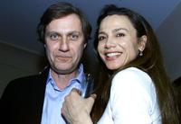 Lasse Hallstrom and Lena Olin at the Swedish Consul General's house in Los Angeles.