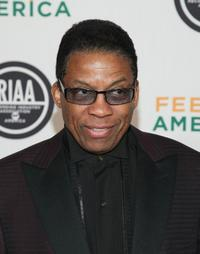 Herbie Hancock at the RIAA and Feeding America's Inauguration Charity Ball.