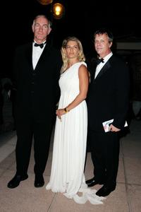 John Sayles, Angela Ismailos and Todd Haynes at the Opening Ceremony Dinner during the 66th Venice Film Festival.