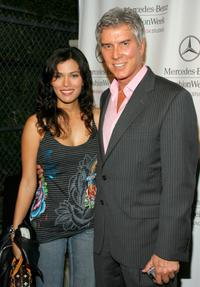 Christine Prado and Michael Buffer at the Mercedes Benz Fashion Week.