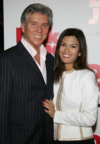 Michael Buffer and Christine Prado at the premiere of