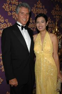 Michael Buffer and Christine Prado at the HBO Emmy after party.