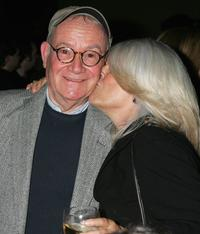 Buck Henry and guest at the 101 Greatest Screenplays gala reception at the Writers Guild Theater.