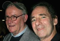Buck Henry and Harry Shearer at the 101 Greatest Screenplays gala reception at the Writers Guild Theater.