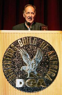 Werner Herzog speaks at the Directors Guild of America.