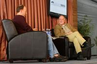 Werner Herzog and Patrick Goldstein at the Talk/Show Panel