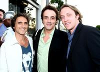 Producer Lawrence, Paul Hipp and Chad Hurley at the Nanette Lepore and the Creative Coalition's Fashion Votes event.