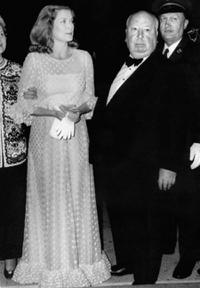 Grace Kelly and Alfred Hitchcock at the Cannes International Film Festival.