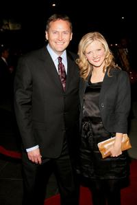 Michael Hitchcock and actress Arden Myrin at the premiere of