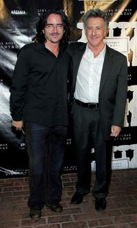 Dustin Hoffman and Brad Silberling at the Lisa Hoffman Night And Day 24 Hour Skincare Launch.