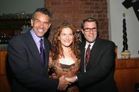 Brian Stokes Mitchell, Ana Gasteyer and Jim J. Bullock at the after party of