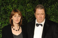 Rebecca Saire and Roger Allam at the 58th London Evening Standard Theatre Awards in London.