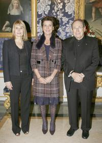 Robert Hossein, Princess Caroline of Hanover and Candice Patou at the Monaco National Day Celebrations.