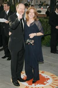 Ron Howard and wife Cheryl Howard at the 2007 Vanity Fair Oscar Party at Mortons.