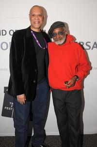 Warrington Hudlin and Melvin Van Peebles at the Behind The Screens: Confessionsofa Ex-Doofus-ItchyFooted Mutha panel discussion.