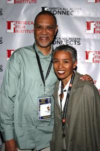 Warrington Hudlin and Guest at the TAA Closing Night Party during the 5th Annual Tribeca Film Festival.