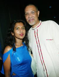 Tanya Selvaratnam and Warrington Hudlin at the opening night party of