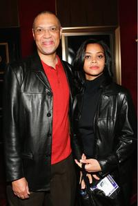 Warrington Hudlin and Guest at the premiere of